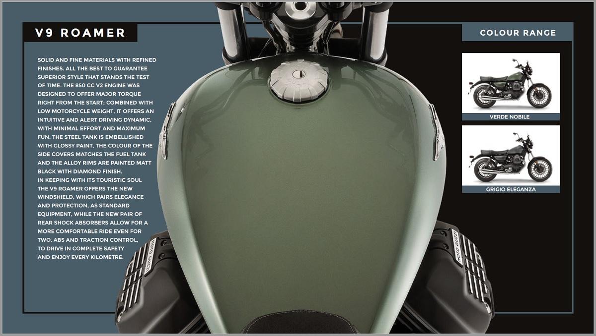 Moto Guzzi V9 Range 2018 Teasdale Motorcycles