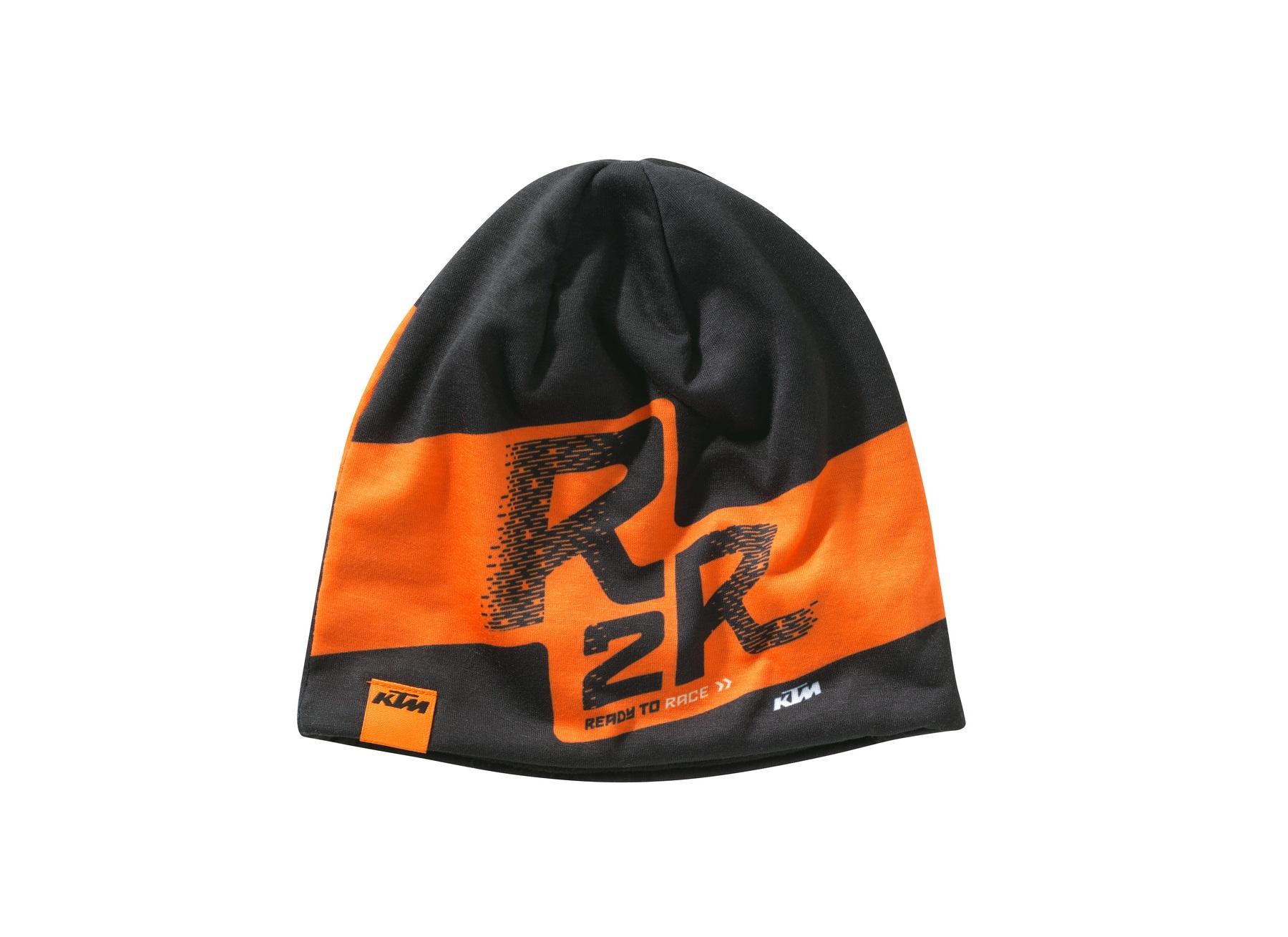 KTM Kids Polyester R2R Black Orange Beanie Hat New