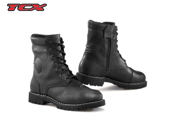 a black pair of TCX HERO GTX boots