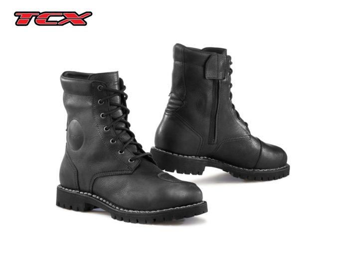 a black pair of TCX HERO GTX boots