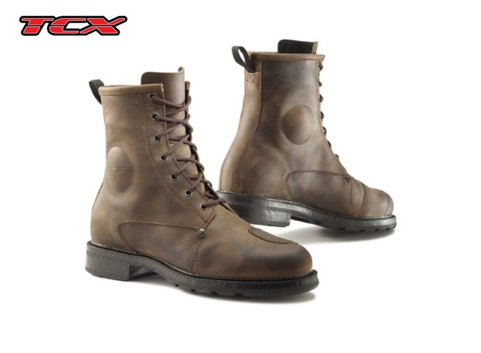 a pair of TCX X-blend brown boots