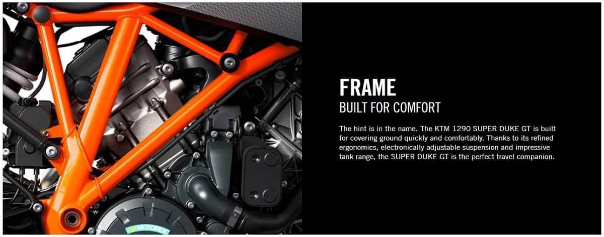 KTM 1290 SUPER DUKE GT frame