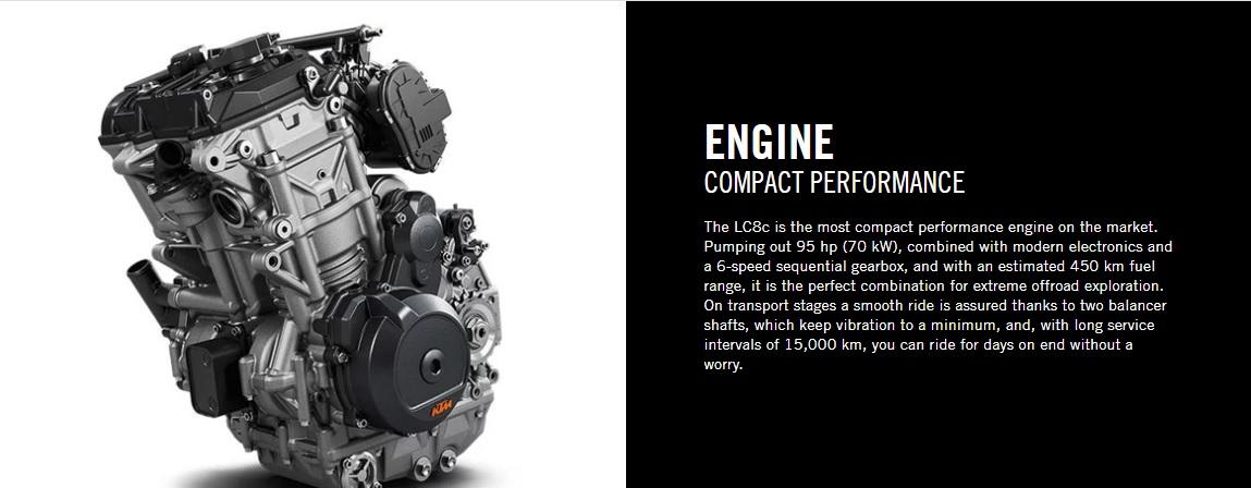 2020 KTM 790 Adventure R Engine