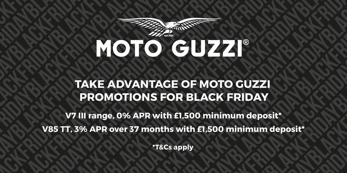 Moto Guzzi Black Friday Promotion Banner