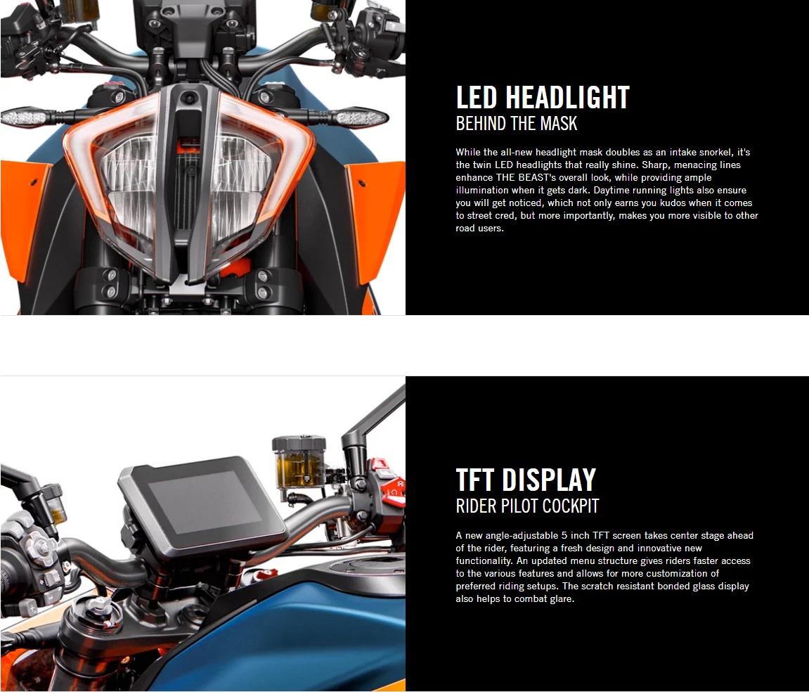 2020 KTM 1290 Duke R Electronics