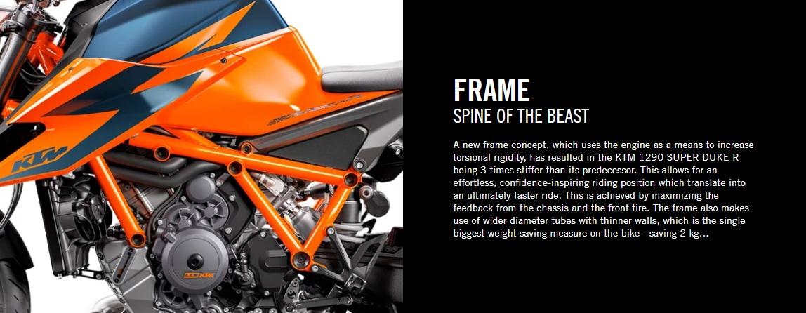 2020 KTM 1290 Duke R Frame