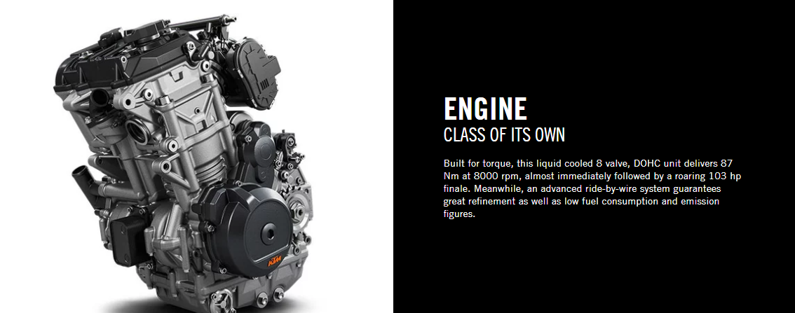 2020 KTM 790 Duke Engine