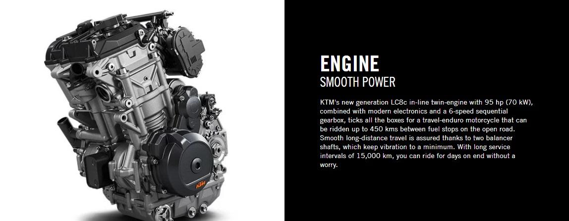 2020 KTM 790 Adventure Engine