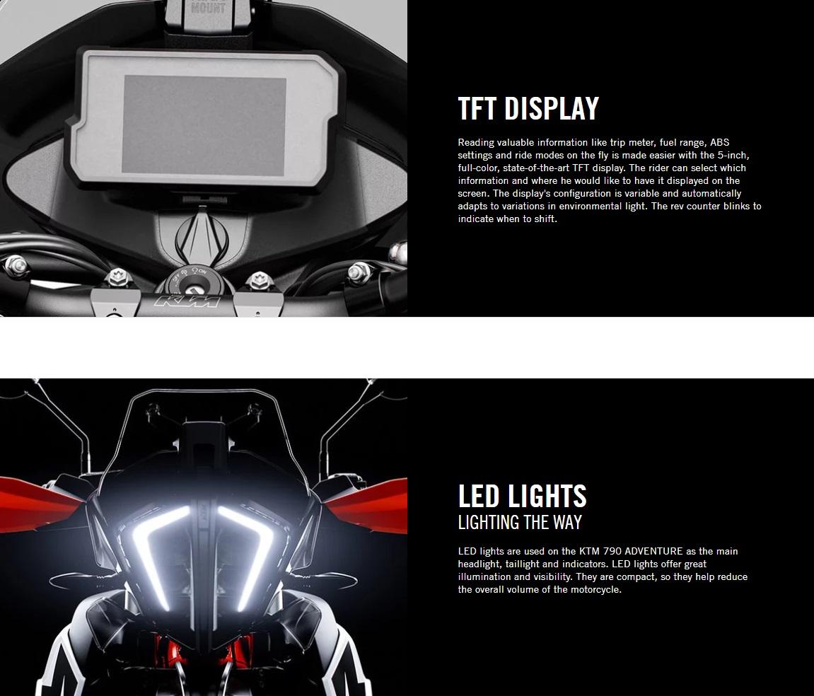 2020 KTM 790 Adventure Display
