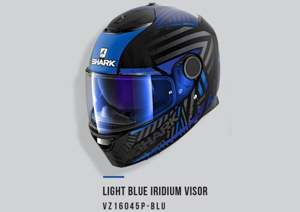 Light Blue Shark Visor Irid