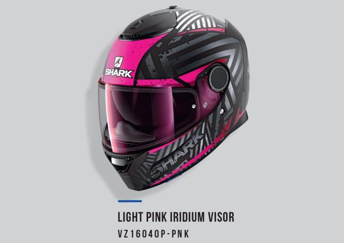 Light Pink Shark Visor Irid