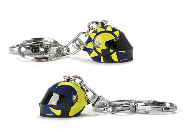 VR46 3D HELMET KEY RING MULTI